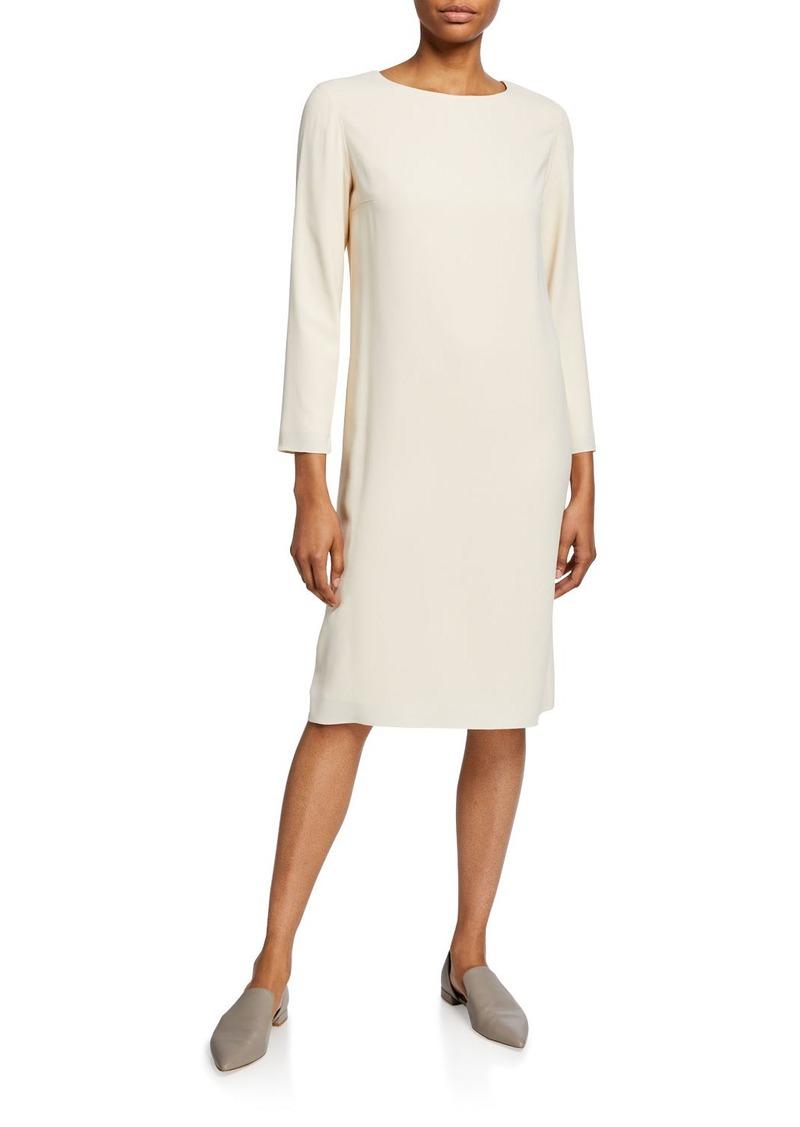 The Row Larina Long-Sleeve Shift Dress