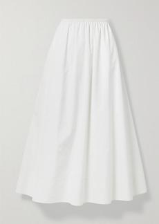 The Row Lili Pleated Cotton-poplin Maxi Skirt