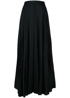 The Row long pleated skirt