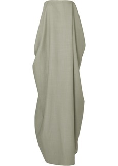 The Row Lu Strapless Wool-blend Gown