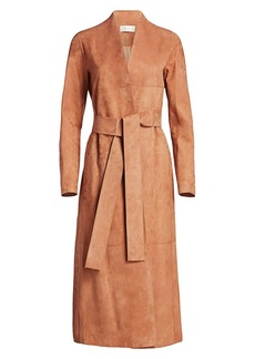 The Row Luisa Suede Coat