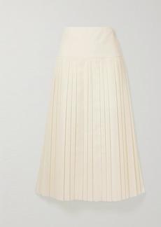The Row Magdita Pleated Crepe Midi Skirt