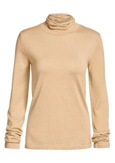 The Row Margita Silk Knit Turtleneck Sweater