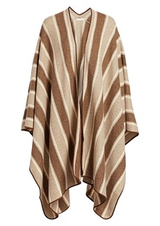 The Row Merlyn Striped Cashmere-Blend Cape