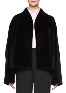 The Row Moona Open-Front Mink Fur Jacket