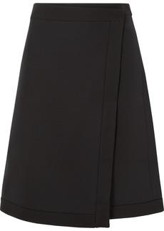 The Row Narata Wool And Silk-blend Wrap Skirt
