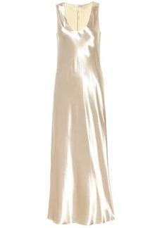 The Row Natasha satin maxi dress