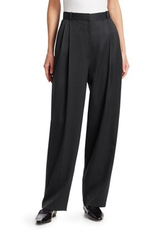 The Row Nica Pleated Front Wool Trousers