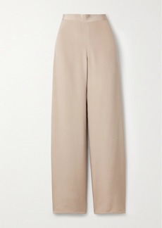 The Row Ole Silk-satin Straight-leg Pants