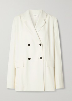 The Row Orla Double-breasted Crepe Blazer