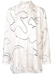 The Row oversized printed shirt