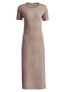 The Row Padma Stretch Cashmere Marled Midi Dress
