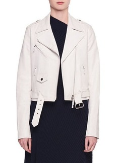 The Row Perlin Zip-Front Leather Moto Jacket