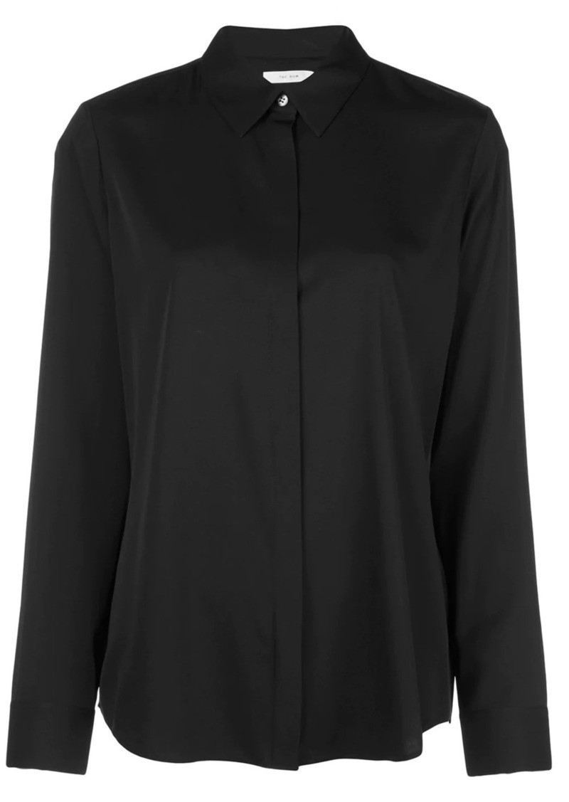 The Row Petah concealed button shirt