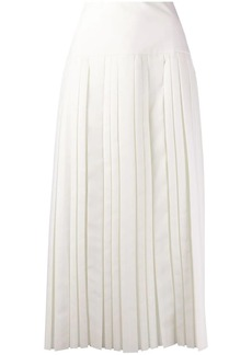 The Row pleated mid-length skirt