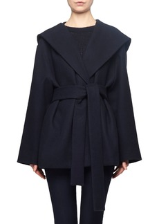 The Row Rayna Hooded Wrap Coat