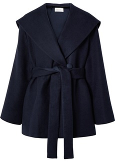 The Row Reyna Hooded Belted Cotton And Wool-blend Jacket