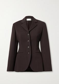 The Row Risa Wool-blend Crepe Blazer