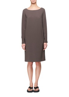 The Row Sarina Long-Sleeve A-Line Dress