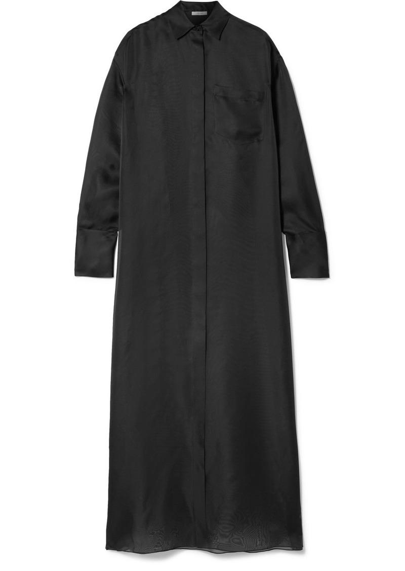 The Row Siena Oversized Silk-organza Maxi Dress