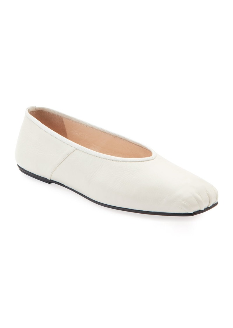 The Row Ballet Flats in Smooth Calfskin