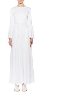 The Row Sora Bell-Sleeve Poplin Maxi Dress