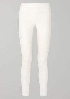 The Row Stratton Stretch Cotton-blend Leggings