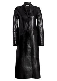 The Row Sua Long Leather Coat