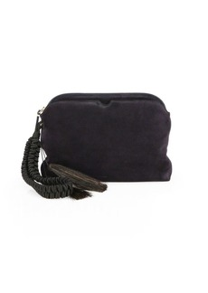 The Row Suede Tassel Wristlet Clutch