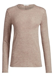 The Row Tabor Melange Stretch Cashmere Sweater
