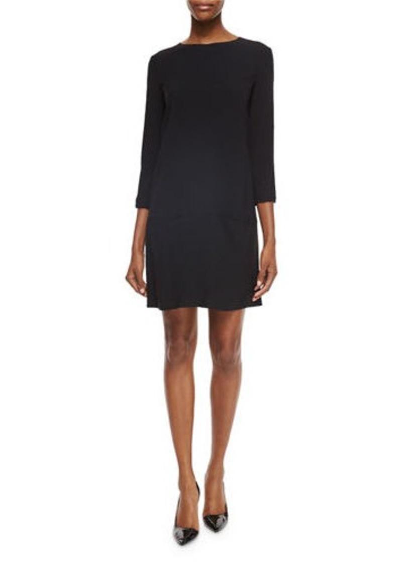 The Row Marina 3/4-Sleeve Dress with Pockets
