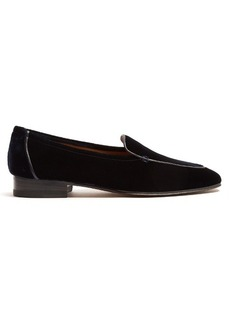 The Row Adam velvet loafers