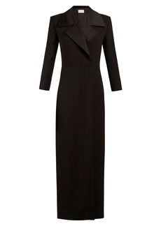 The Row Addy satin-lapel wool-blend coat