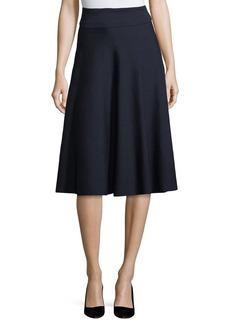 THE ROW Alessia Wool A-Line Midi Skirt
