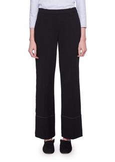 THE ROW Alisei Wide-Leg Mid-Rise Crepe Pants