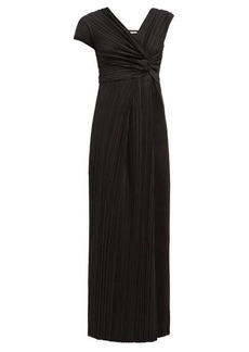 The Row Allure asymmetric plissé gown
