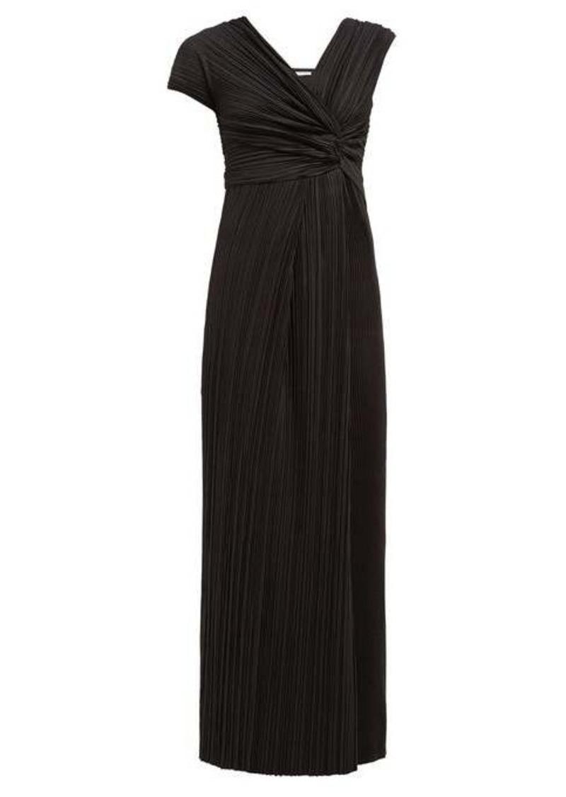 The Row Allure asymmetric plissé gown