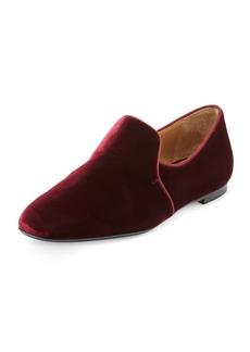 THE ROW Alys Velvet Loafer Flat