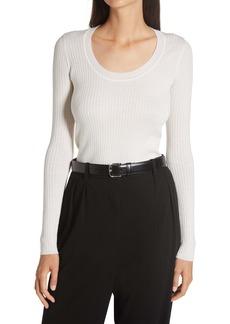 The Row Amaia Merino Wool & Silk Sweater