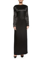 THE ROW Amrol Long-Sleeve V-Back Gown