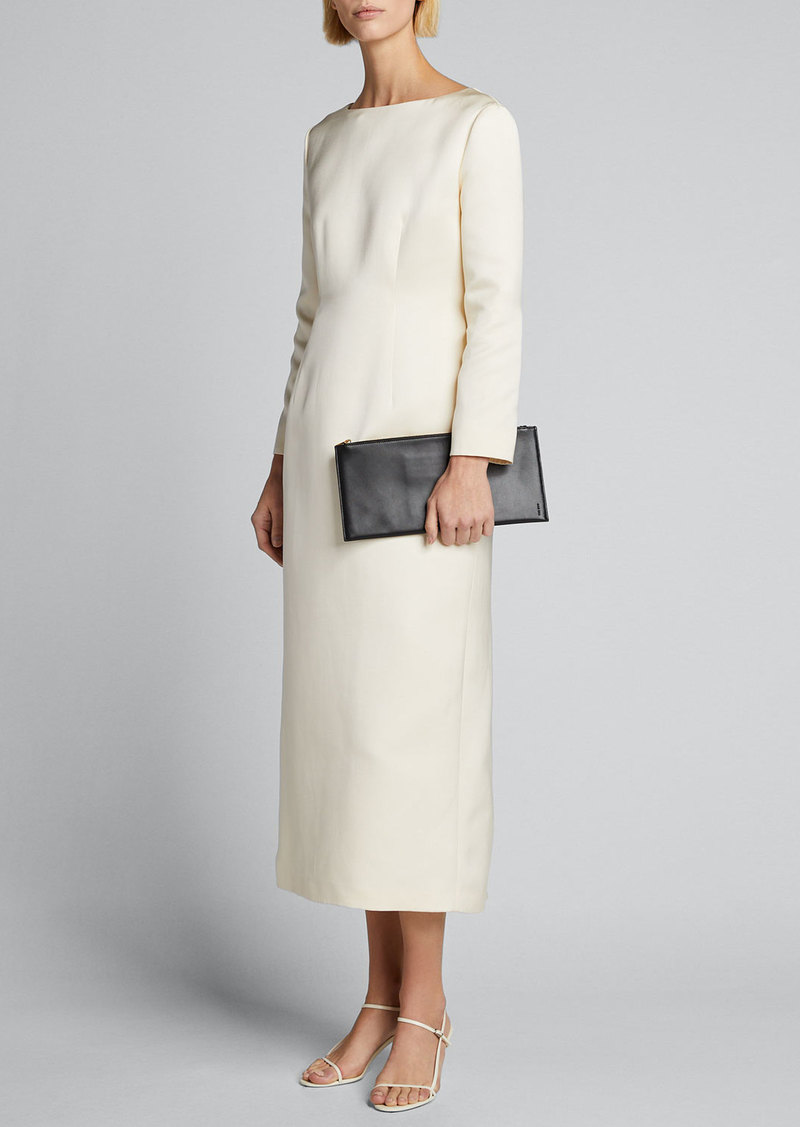 THE ROW Anke Long-Sleeve Midi Dress