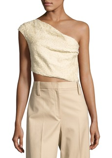 THE ROW Arno One-Shoulder Crop Top