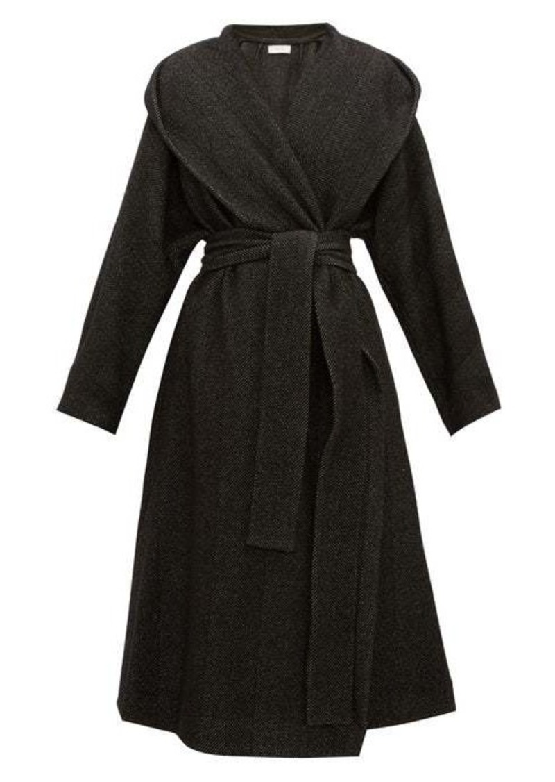 The Row Audree cashmere-herringbone coat