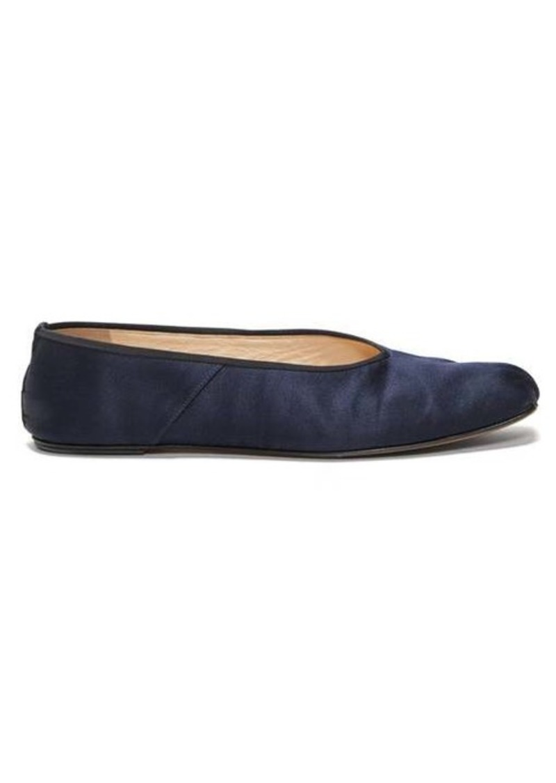 The Row Ballet square-toe faille flats