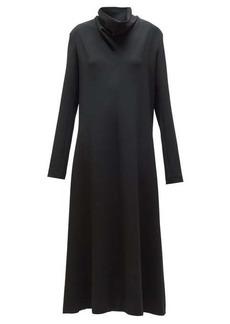 The Row Barbara funnel-neck crepe midi dress