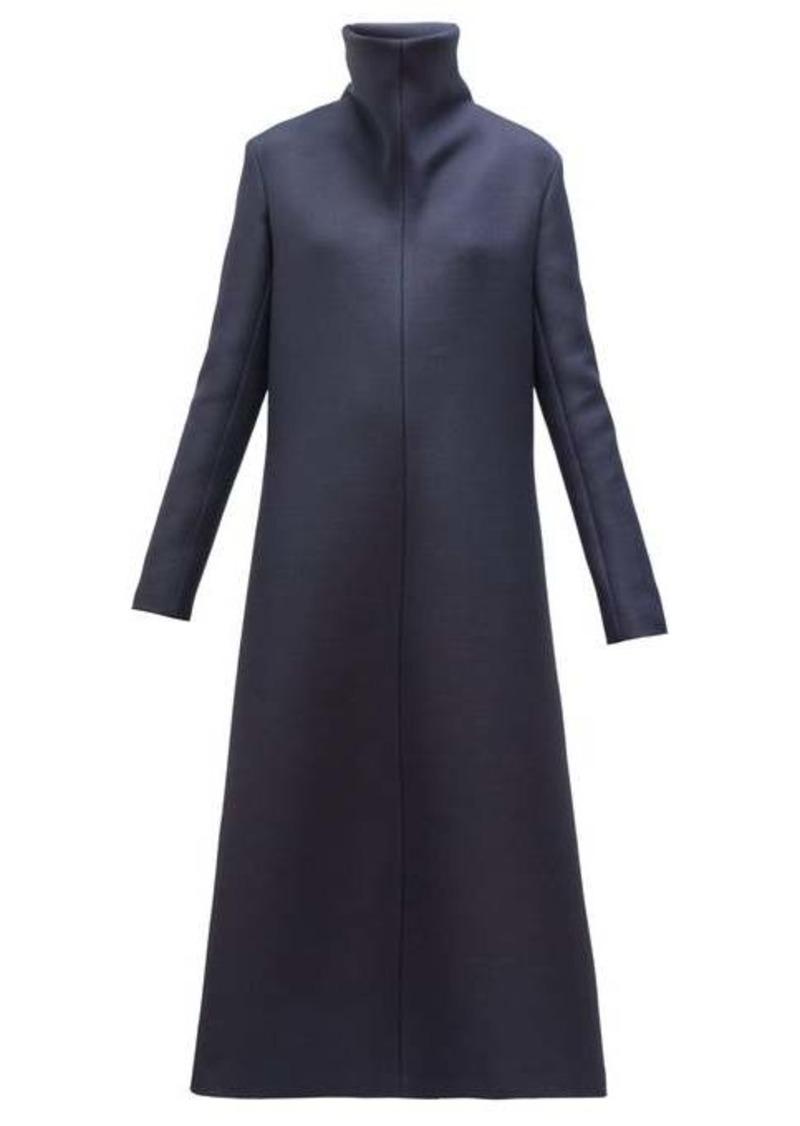 The Row Barbara high-neck A-line wool-blend midi dress