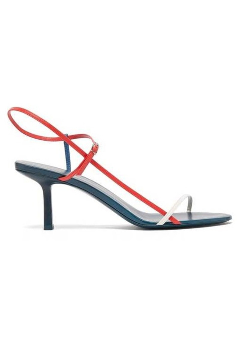 The Row Bare tri-tone leather sandals