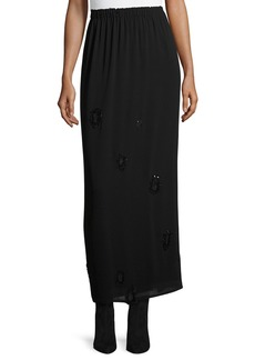 THE ROW Beaded Georgette Maxi Skirt