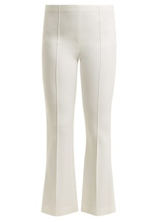 The Row Beca pintucked kick-flare crepe trousers