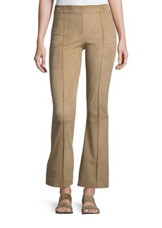 THE ROW Beca Seamed Suede Pants